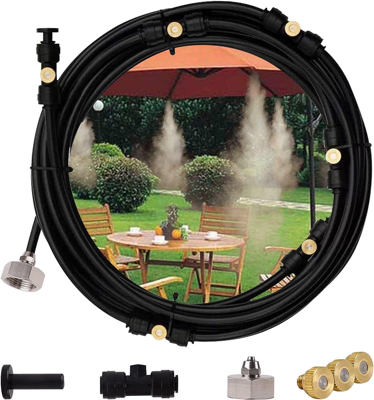 TBCWRH Nebulizador Terraza,Nebulizador Jardin Kit,Sistema de Nebulizacion para Exteriores,Kits de Riego por Goteo para Invernaderos,Nebulizadores para Trampolín Sombrilla 15M
