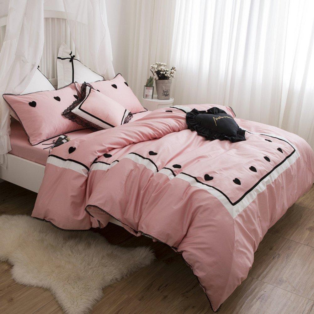羽毛布団カバー4個セット 単色 1.5 1.8 m ベッド製品 春 夏 掛け布団カバー-B 200*230cm B07F6XFV5SB 200*230cm