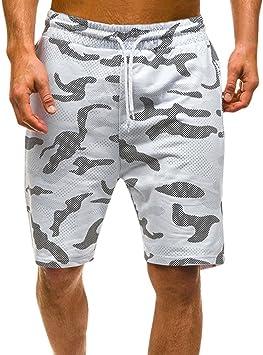 LuckyGirls Pantalones Hombres Cortos Chandal Originales Camuflaje ...