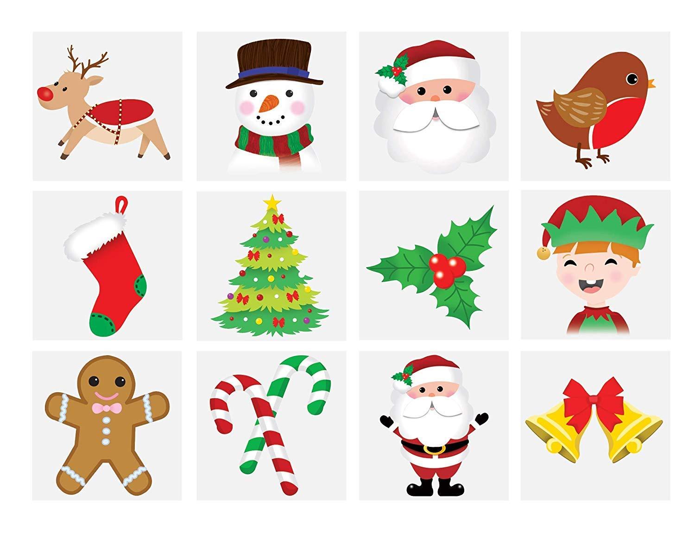 3X48 x Christmas Children\'s Temporary Tattoos (4 Packs of 12 ...