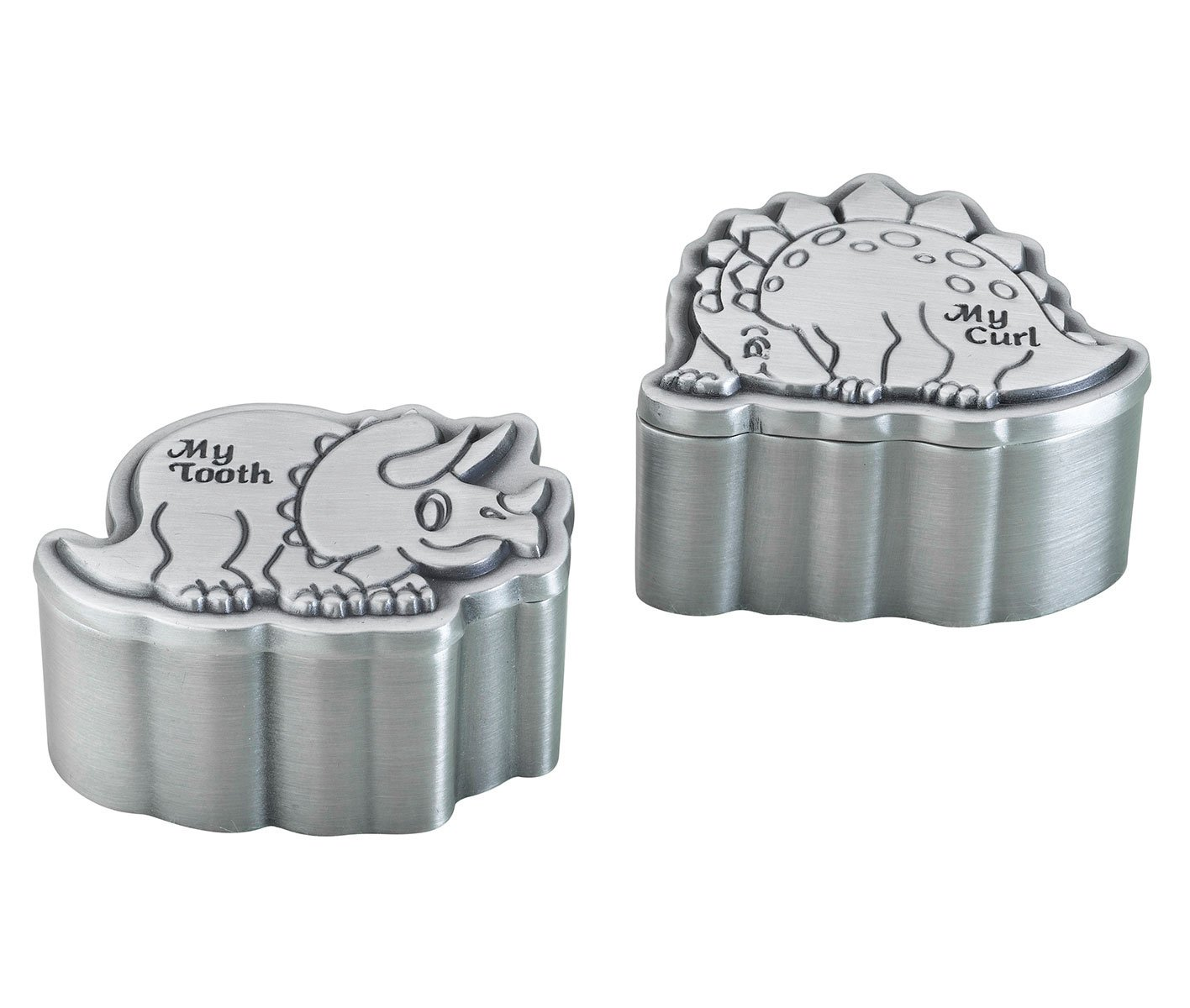 Lillian Rose Pewter Tooth and Curl Box, Dinosaur, 2, 2 Count 2 24TC720 D
