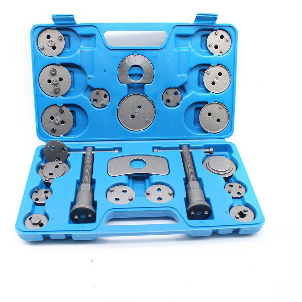 Tdogs Brake Caliper Piston Rewind Wind Back Tool Set 21 Piece Universal Heavy Duty Disc Compressor Car Panel Removal Tool Repair Kit for Brake Pad Replacement
