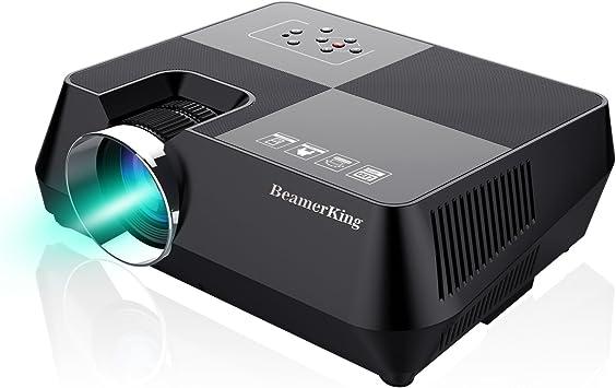 Mini Proyector BeamerKing Portable Home Cinema HD LED V/ídeo Proyector de Pel/ículas Soporte 1080P USB VGA HDMI AV Proyector Compatible con TV Smartphones iPhone iPad