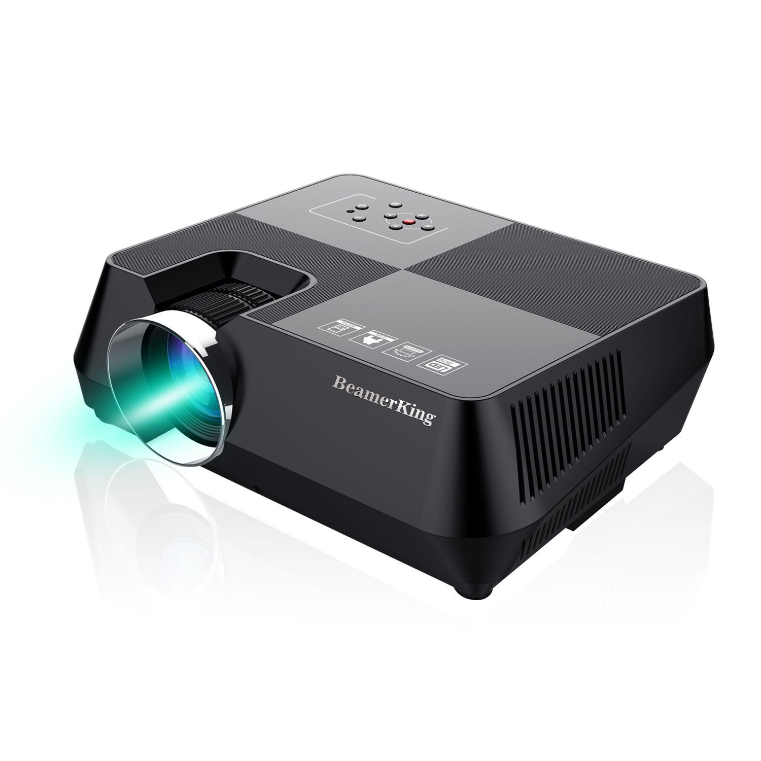 Video Projector Movie Home Theater +30% Lumens Portable Led Projector Mini Projector Up 170 inches Display Support Full HD 1080P HDMI USB VGA AV for iPhone Laptop Android Smartphone PS4 by BeamerKing