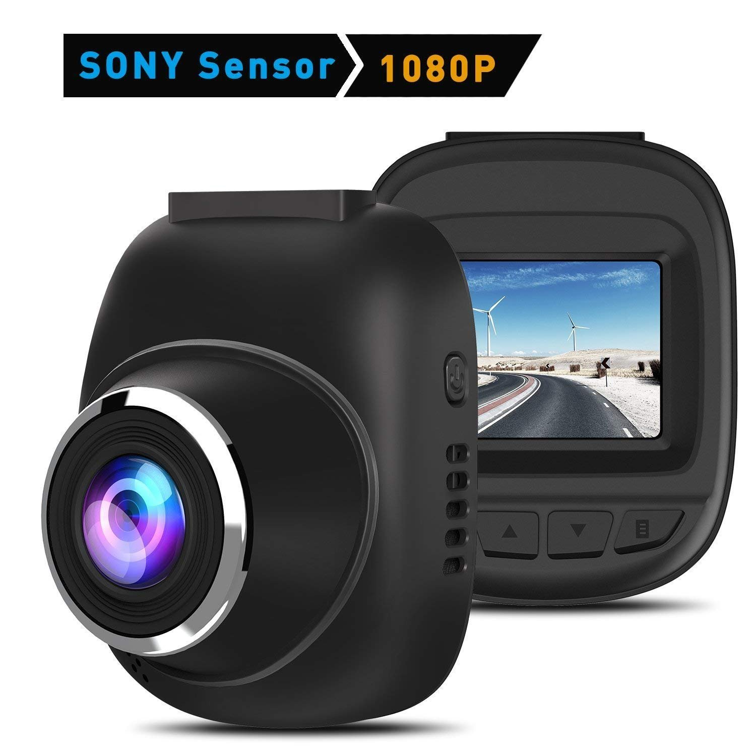 Dash Cam, CHGeek 1080P 170 Wide Angle Lens Car Cameras with Sony Sensor Driving Recorder Dashboard Cameras for Cars with Super Night Vision, WDR, Loop Recording, Parking Monitor DC1001