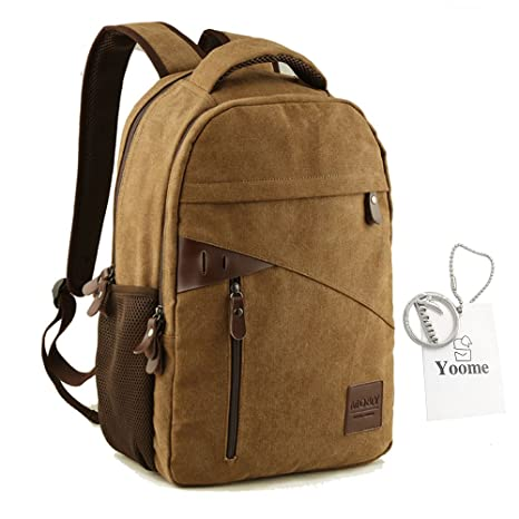 Yoome Large Capacity Backpacks for Teen Boys Canvas Rucksack 14 Inch Laptop  Dayback Travel College Hiking 26ab58fec08d1