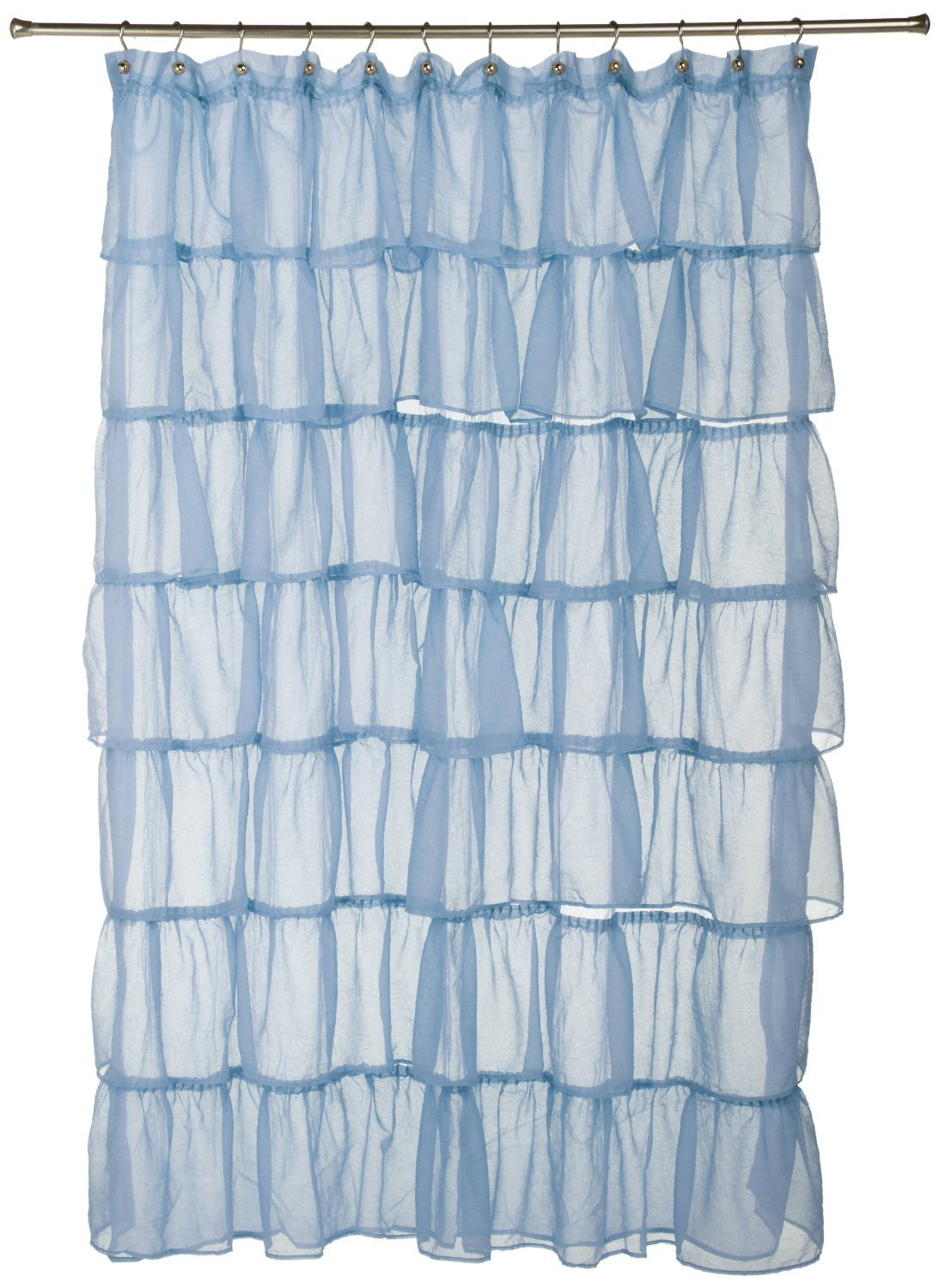 Amazon.com: Lorraine Home Fashions Gypsy Ruffled Shower Curtain ...