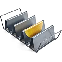 Chicago Metallic Professional 6-Shell Baked Taco Rack, 15-Inch-by-7-Inch, Grey, medium - 26410