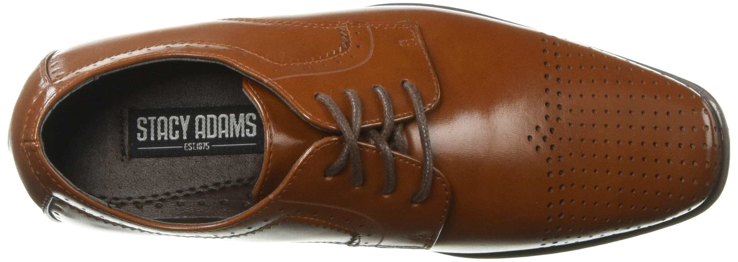 STACY ADAMS Unisex Sanborn Perfed Cap Toe Lace-Up Oxford, Cognac 5 M US Big Kid by STACY ADAMS (Image #8)