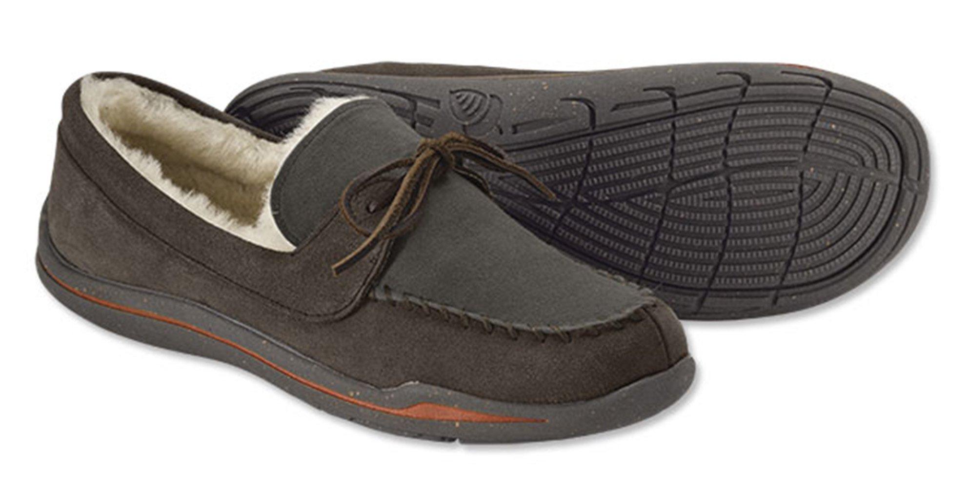 Orvis Men's Ultra-light Barefoot Moc-toe Slipper, Brown, 13