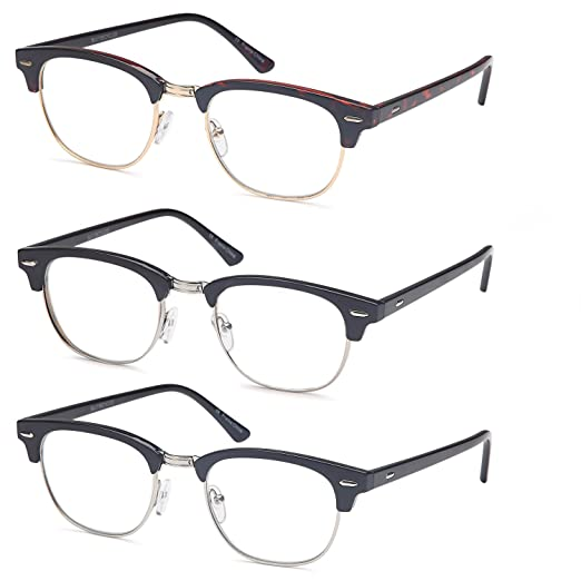 c85eb0aa371 Amazon.com  GAMMA RAY READERS 3 Pairs Men s Readers Quality Reading Glasses  for Men  Clothing