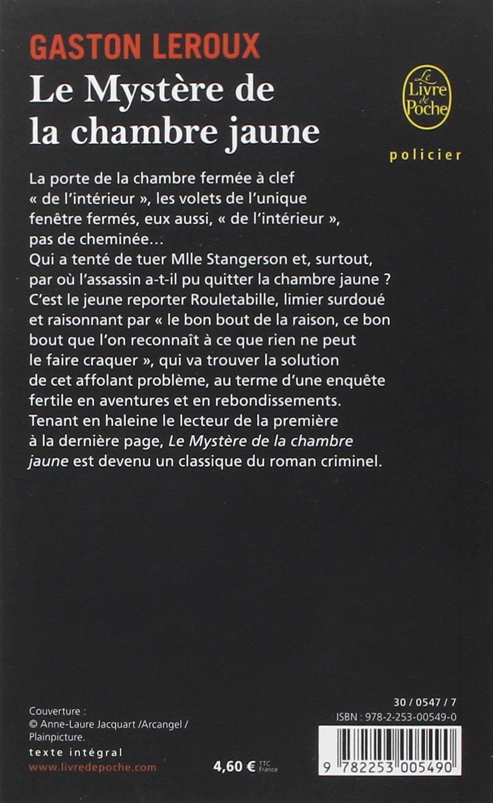 Amazon Fr Le Mystere De La Chambre Jaune Gaston Leroux