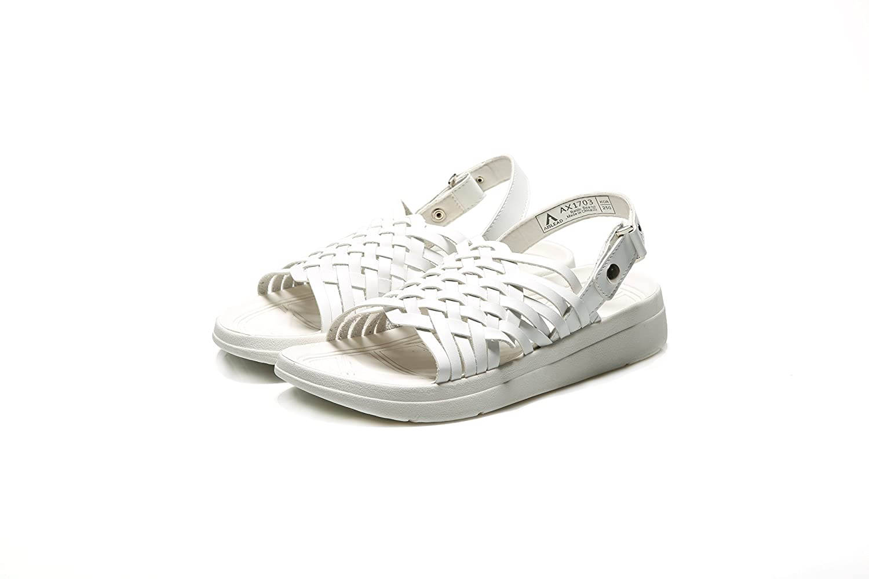 Aislead USA The Savant White Unisex Gianni Designer Sandals