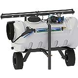Master Manufacturing SNO-11-025D-MM 25 Gallon Deluxe Lawn Trailer Broadcast Sprayer-7' Spray Coverage, White