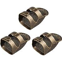 3 dedales de metal de latón para costura