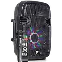Fenton FT8LED - 8 Inch Mobiele Speaker 300 Watt met Ingebouwde Accu en LED Verlichting - voorzien van Draadloze…