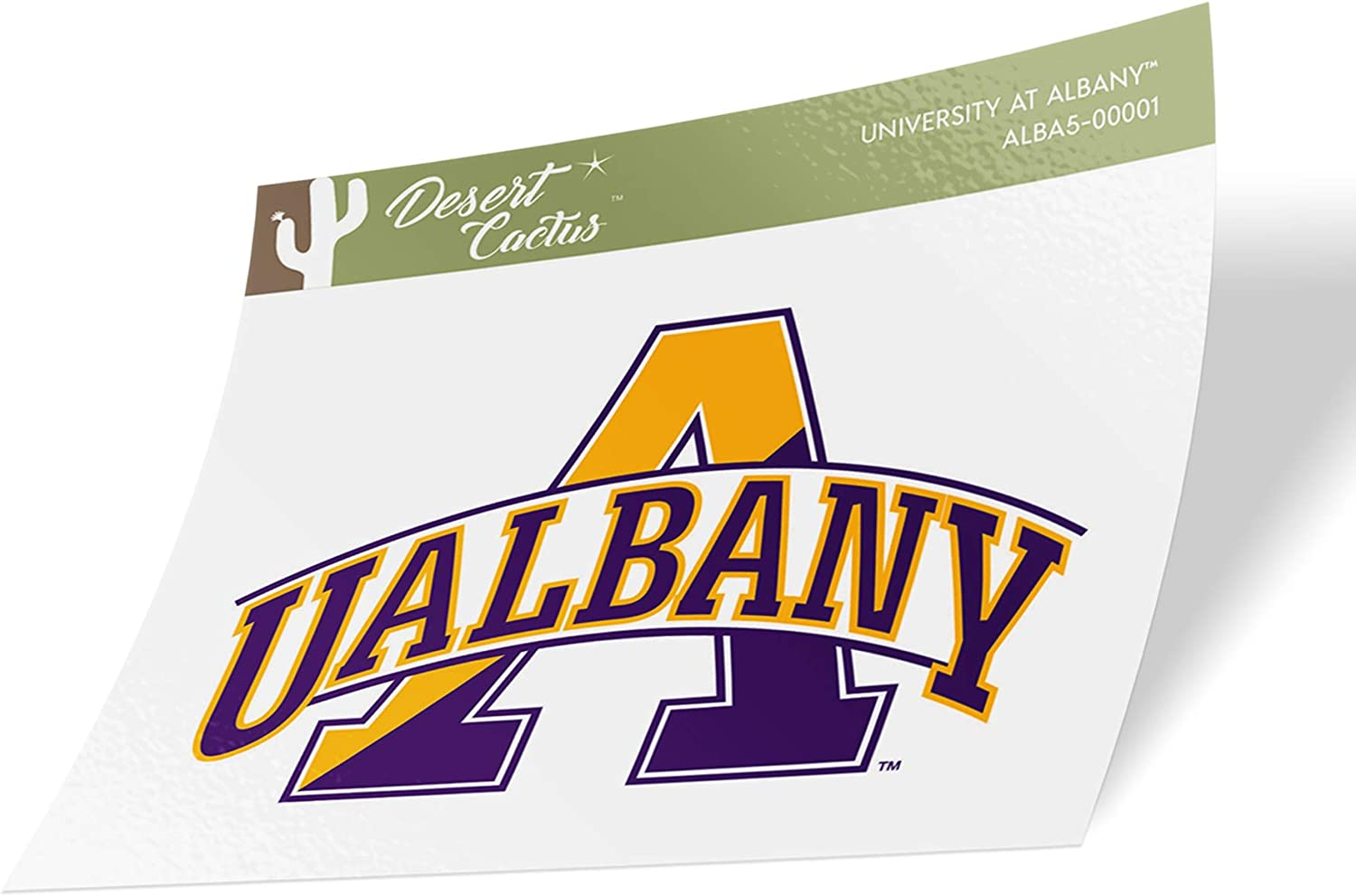 University at Albany UALBANY Great Danes SUNY NCAA Vinyl Decal Laptop Water Bottle Car Scrapbook (Sticker - 00001)