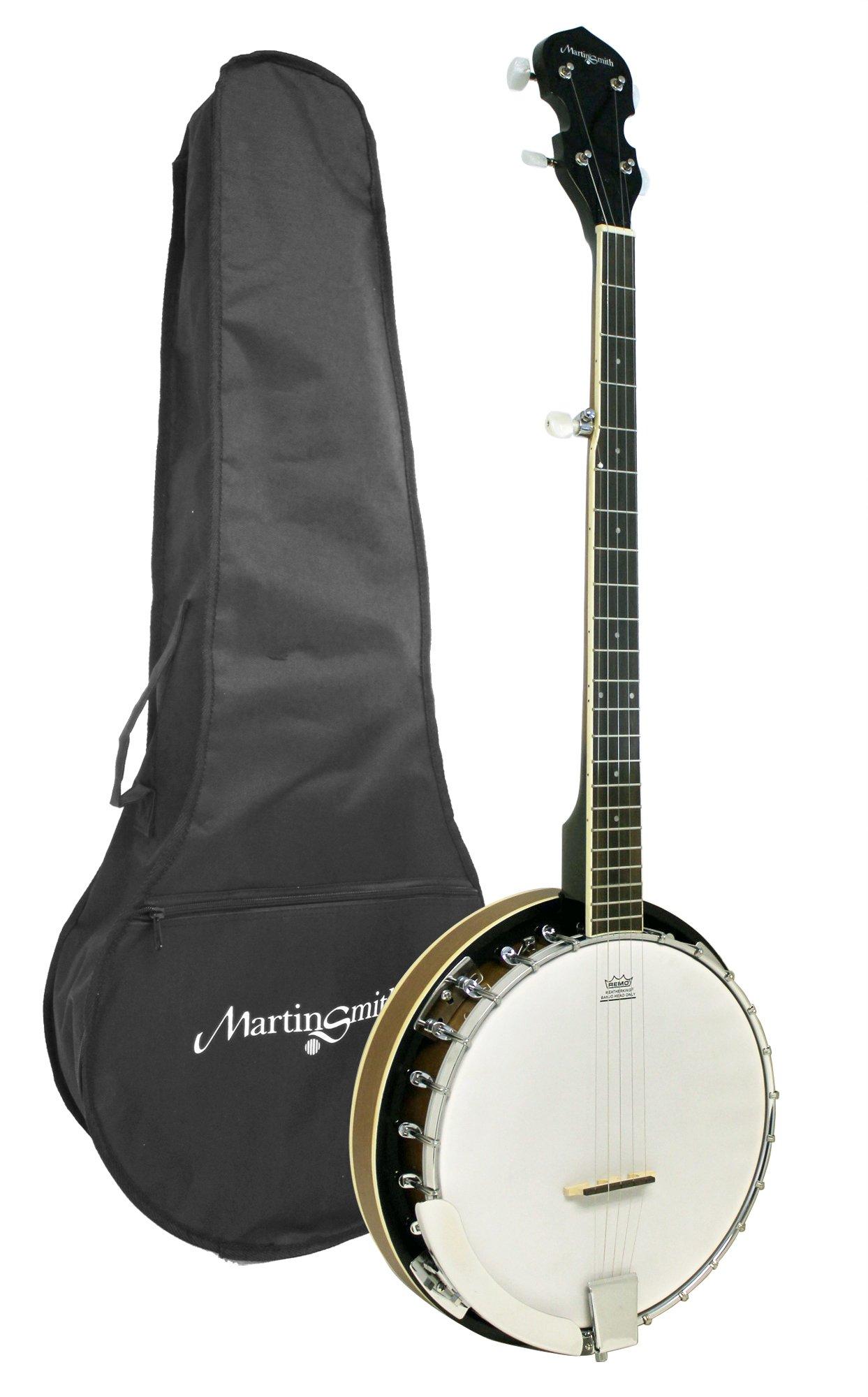 Martin Smith BJ-001 5 String Guitar Banjo Including Padded Gig Bag