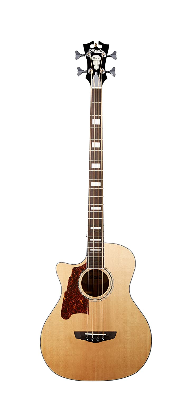 D'Angelico Premier Mott Lefty Acoustic-Electric Bass - Natural Cascio Interstate Music DAPB700NACCPLS