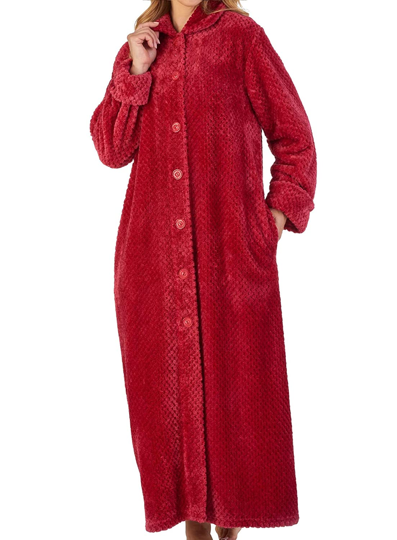Clothing & Accessories Sleep & Lounge Slenderella Womens Zip Up Waffle Dressing Gown Ladies Super Soft Flannel Fleece Bath Robe S - XXXL