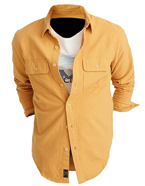 b5da1058 Abercrombie & Fitch Men's Chamois Shirt Button Down Shirt (XX-Large, ...