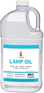 Liquid Paraffin Lamp Oil - 1 Gallon - Smokeless, Odorless, Ultra Clean Burning Fuel for Indoor and Outdoor Use (Single)