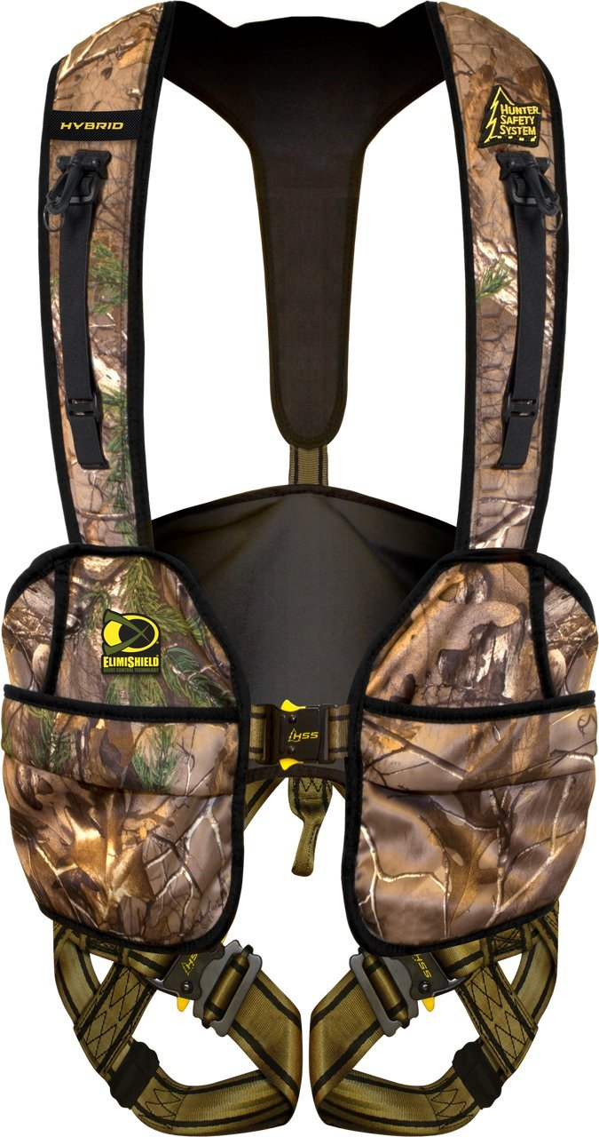 Hunter Safety System Hybrid Flex Safety Harness with ElimiShield Scent Control Technology (New for 2017), Large/X-Large/175-250 lbs. by Hunter Safety System