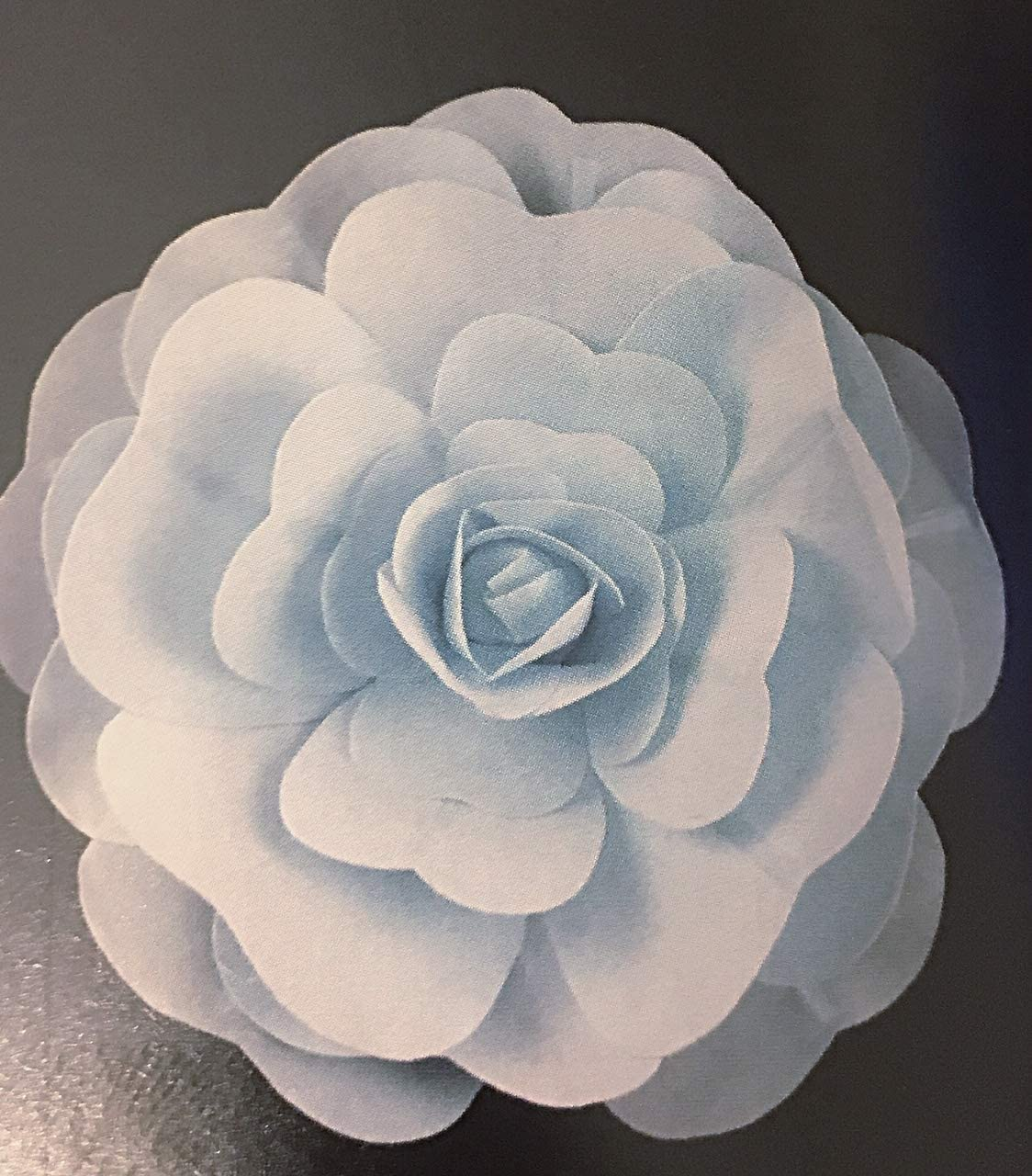 OOKI- 2Pcs 12 inch Premade Paper Flower Backdrop Decoration Giant Party Paper Flower Wedding Rose Flower Wall Backdrop DIY Paper Handmade Craft for Nursey,Baby Shower,Birthday,Home Decor (Light Blue)