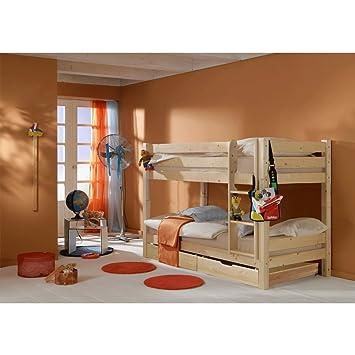 Letto A Castello In Legno Naturale.Moebel Store24 Letto A Castello Alice In Legno Di Pino Massiccio