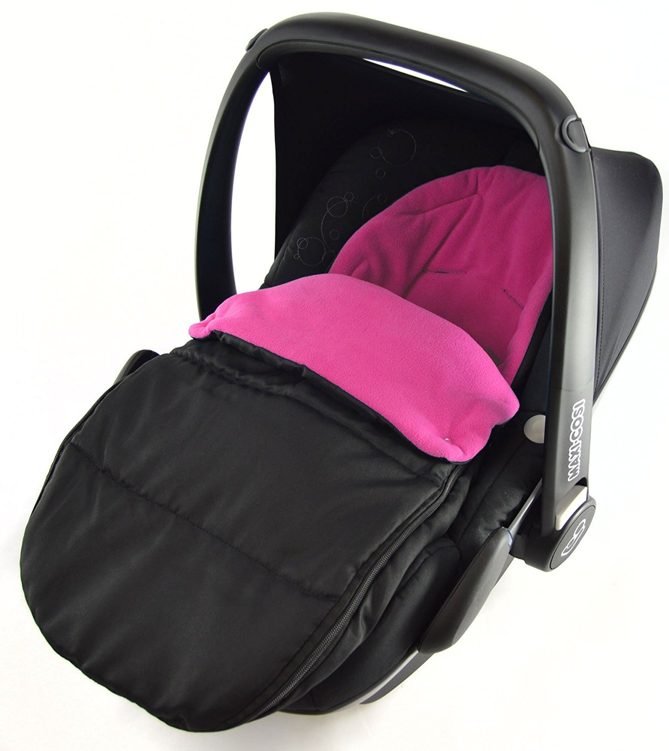 Car Seat Footmuff/Cosy Toes Compatible with Ventalux Pink Rose For-Your-Little-One