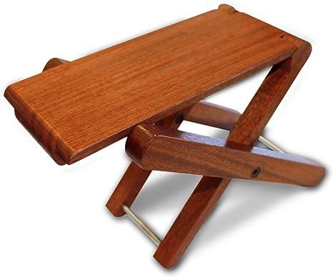 Cordoba plegable reposapiés plegable de madera (palisandro ...
