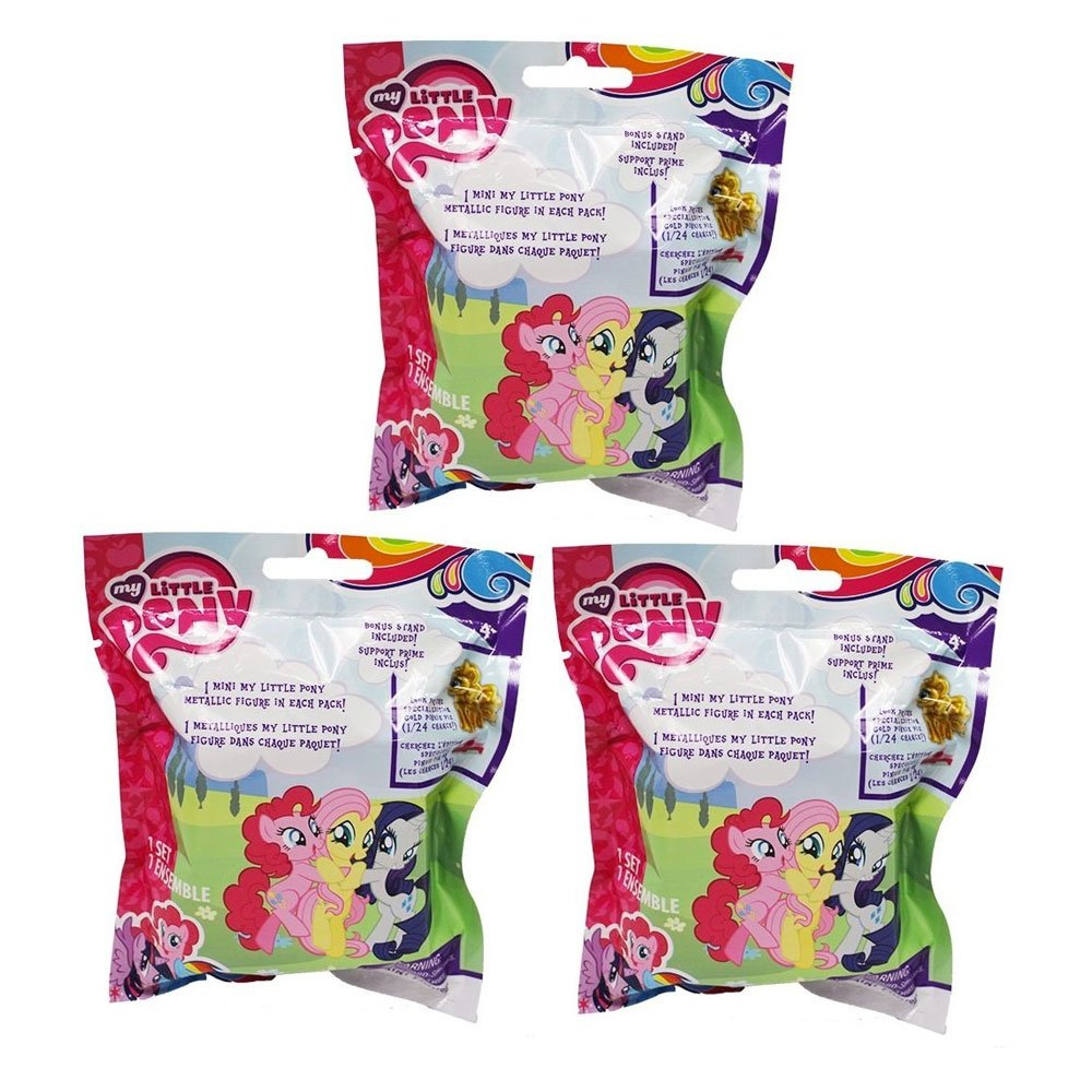 "My Little Pony Original Minis Chrome Figure Blind Pack Lot Of 3 Packs ""Contai.. 6"