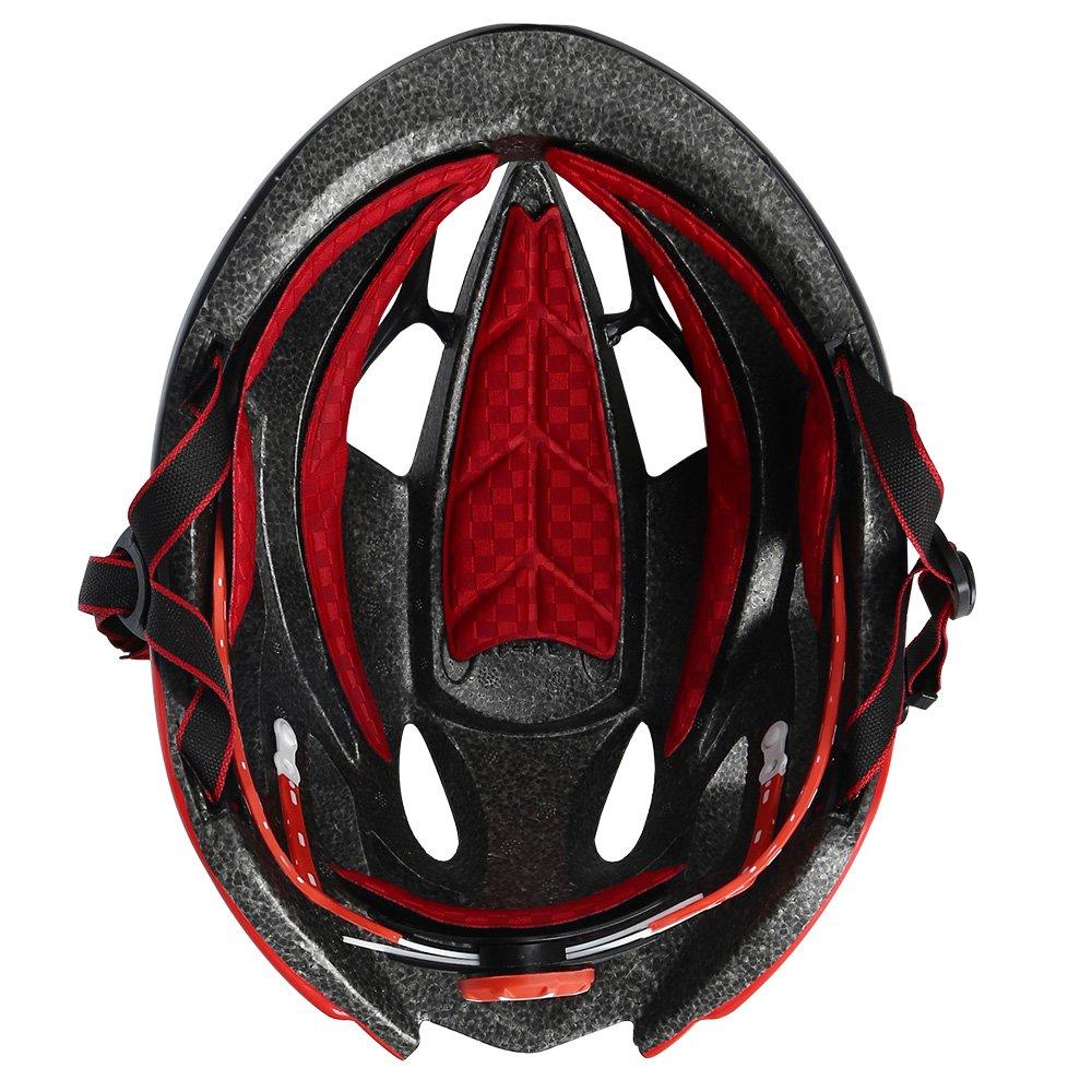 INBIKE Casco de Ciclismo, Casco de Bicicleta Unisex, Color Negro&Rojo: Amazon.es: Deportes y aire libre