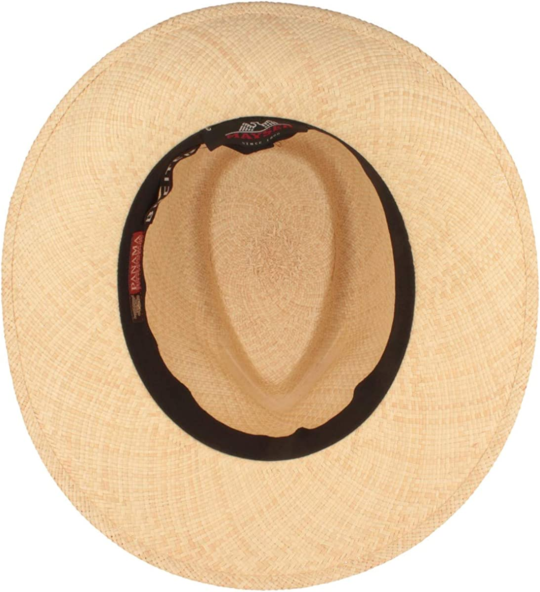 Straw Hat Soft Sweatband and Crack Protection. Water Repellant UV 40 Sun Protection Traditional Hand Woven in Ecuador Original Panama Hat Summer Hut