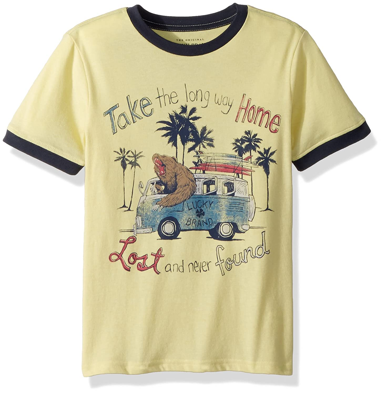 c4bec1cb2782 Amazon.com: Lucky Brand Boys' Short Sleeve Graphic Tee Shirt: Clothing