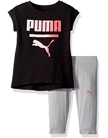 656dfc1e3826 PUMA Girls  2 Piece Jersey Tee   Capri Set
