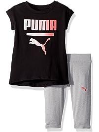 fa0e46b257ee7d PUMA Girls  2 Piece Jersey Tee   Capri Set