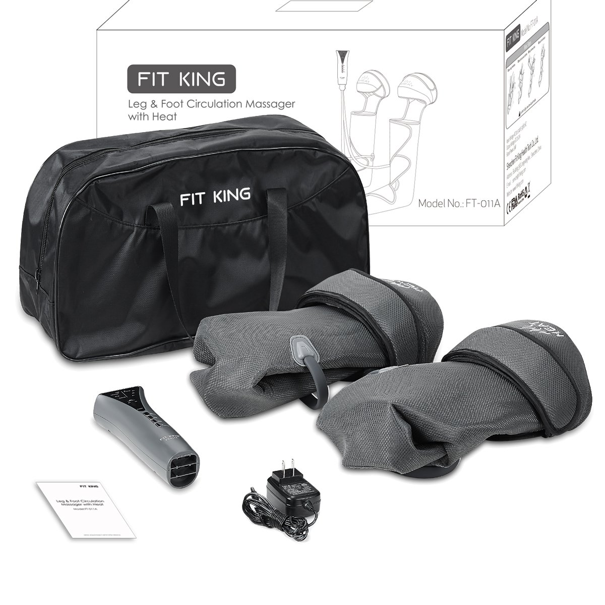 FIT KING Leg & Foot Air Massager and Knee Warmer for Foot Calf and Knee Circulation Massage with Size Extensions and 3 Modes 3 Intensities by FIT KING (Image #7)