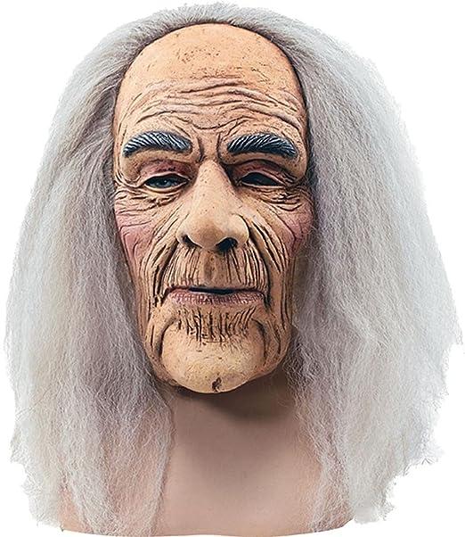 Bristol Novelties adultos el abuelo Horror de la película Saw máscara de anciano + pelo