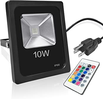 Savvypixel 10W RGB Floodlight Color Changing LED Security Lights