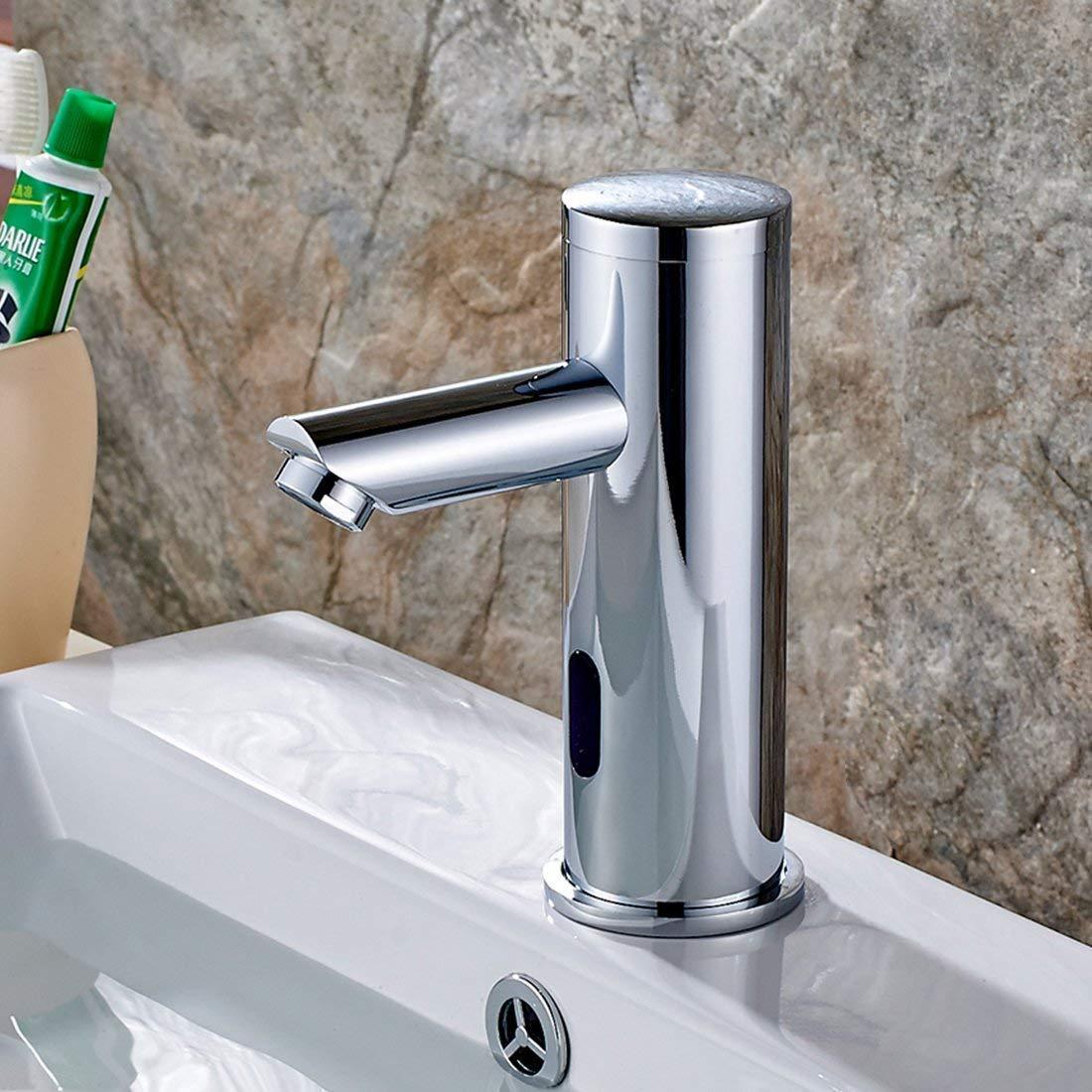 aimadi Sensor de infrarrojos grifo automá tico Inducció n bañ o grifo agua ahorrar waschtisha rmatur –  Lavabo baterí a operativos cromo pulgada