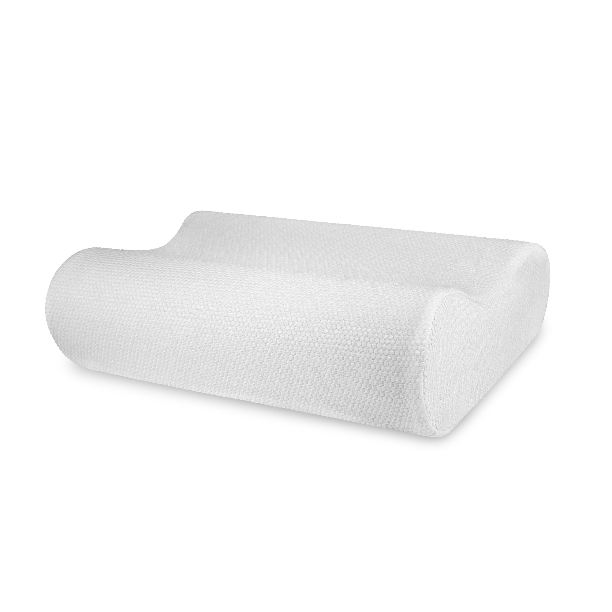 SensorPEDIC Classic Contour Memory Foam Neck Pillow with Ventilated iCOOL Technology Standard, White