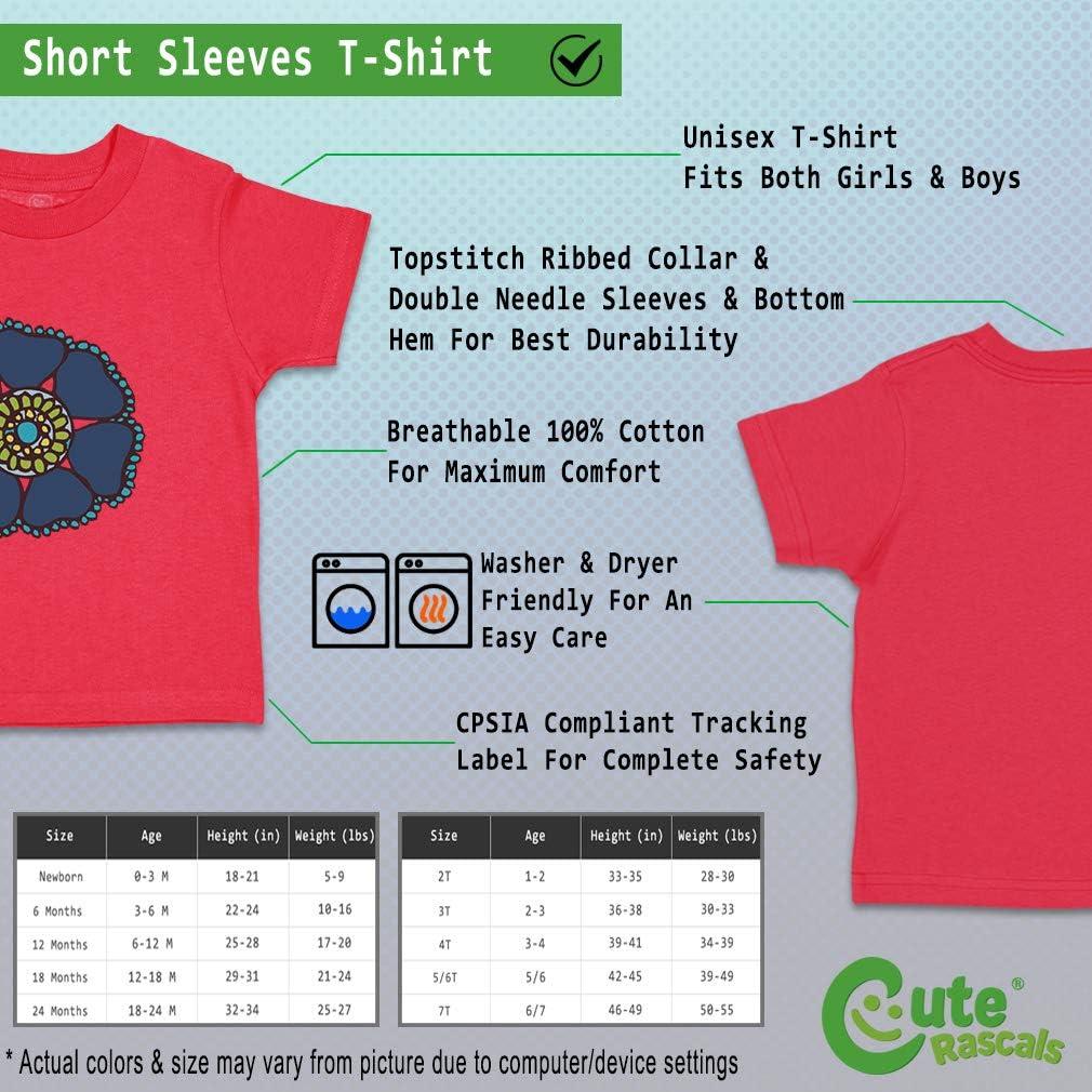Custom Baby /& Toddler T-Shirt Navy Beautiful Flower Cotton Boy Girl Clothes