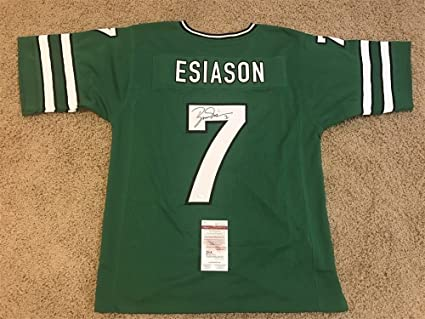 newest c1332 12a69 BOOMER ESIASON SIGNED AUTO NEW YORK JETS GREEN JERSEY JSA ...