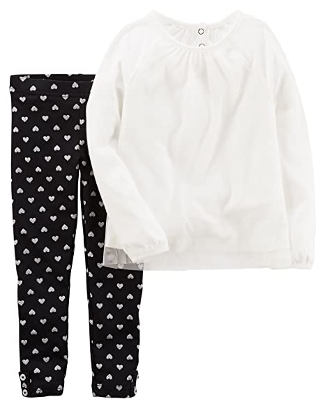 0f849937843 Image Unavailable. Image not available for. Color: Carters Toddler Girls  Tunic Heart Leggings Set ...
