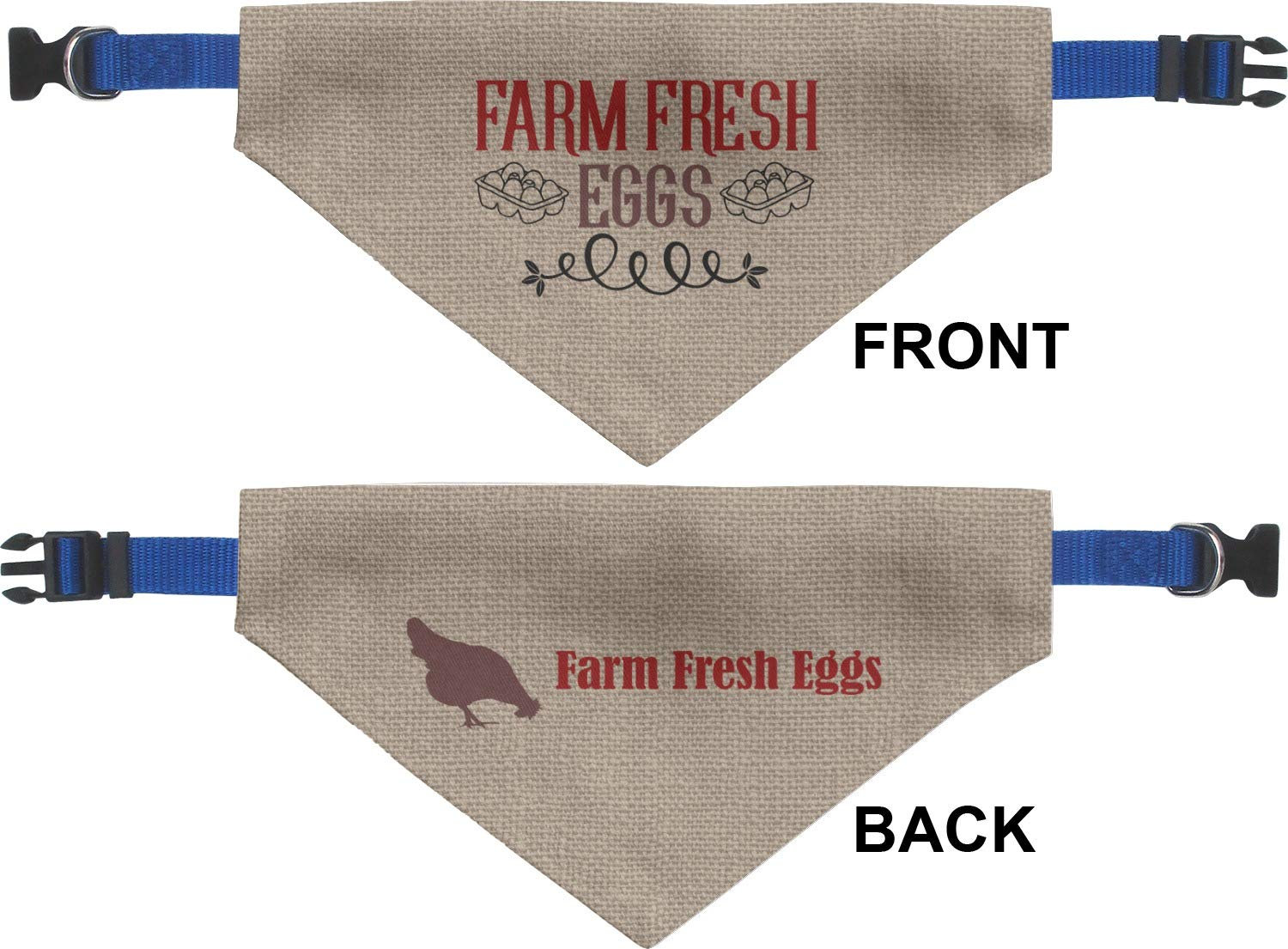 Amazon.com : RNK Shops Farm Quotes Dog Bandana - XLarge (Personalized) : Pet Supplies