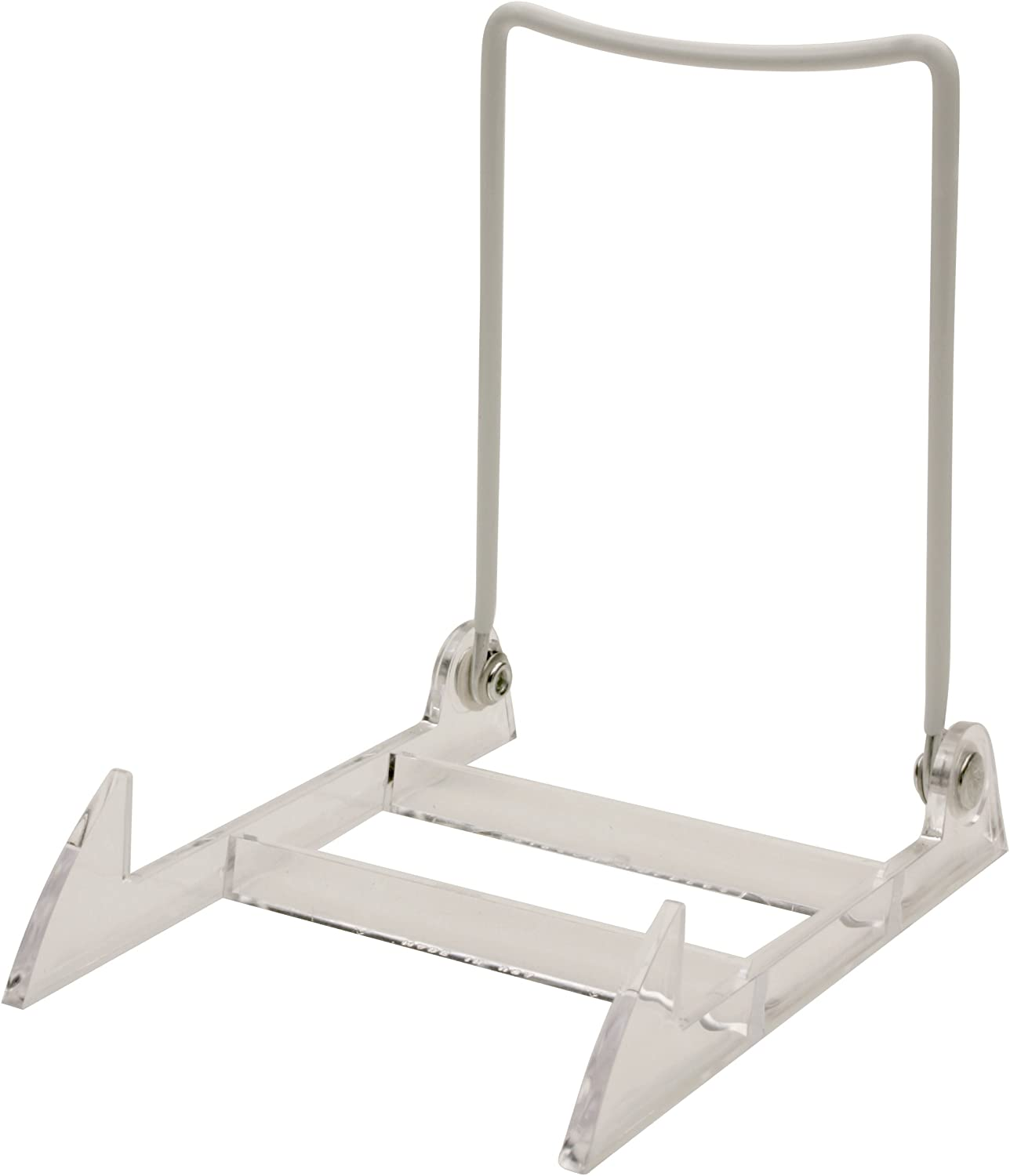 Gibson Holders Large Display Stand Clear Base//White Wire Pack of 2