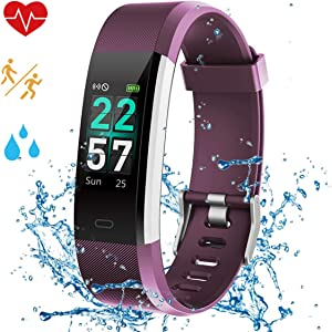 Airpro Fitness Tracker, Activity Tracker Watch with Heart Rate Monitor,IP68 Waterproof Smart Watch with Step Counter, Calorie Counter, Call & SMS Pedometer Watch for Women Men