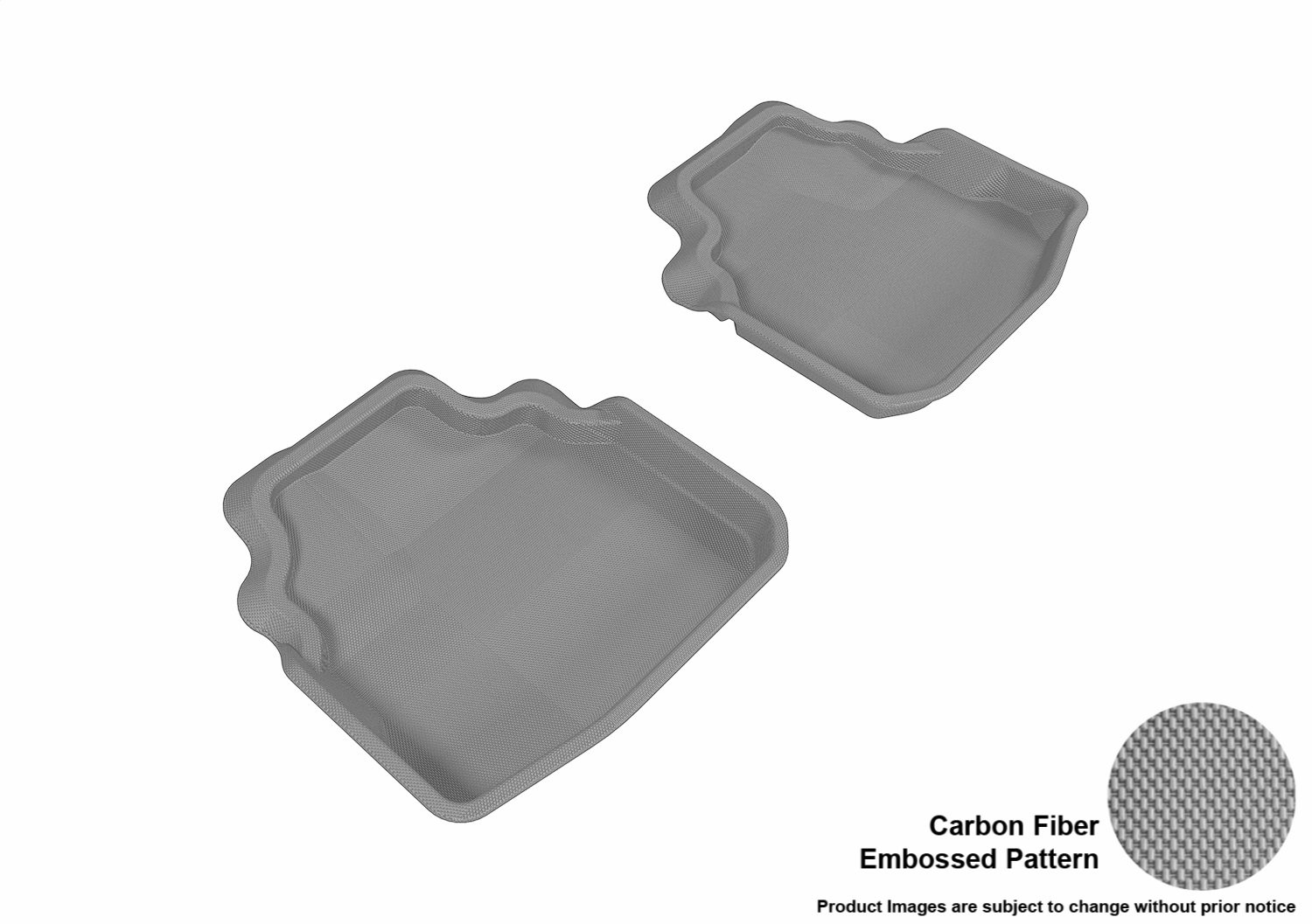 3D MAXpider Complete Set Custom Fit All-Weather Floor Mat for Select Buick Lucerne Models Kagu Rubber Gray L1BC01701501