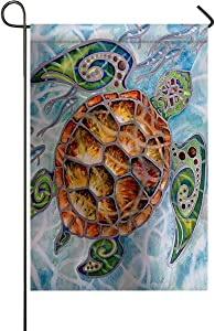 Chic D Sea Turtle Garden Flags House Decor Mini Yard Banner,100% Polyester